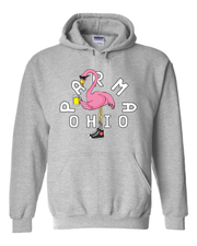 """Parma Flamingo"" Design on Gray - Only in Clev"