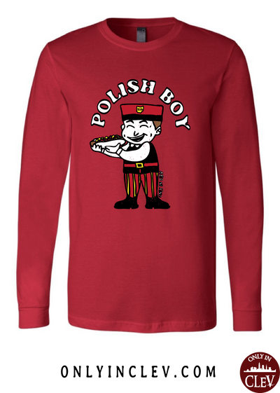 Polish Boy on Red Long Sleeve T-Shirt - Only in Clev