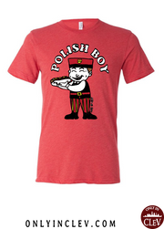"""Polish Boy"" Design on Red - Only in Clev"