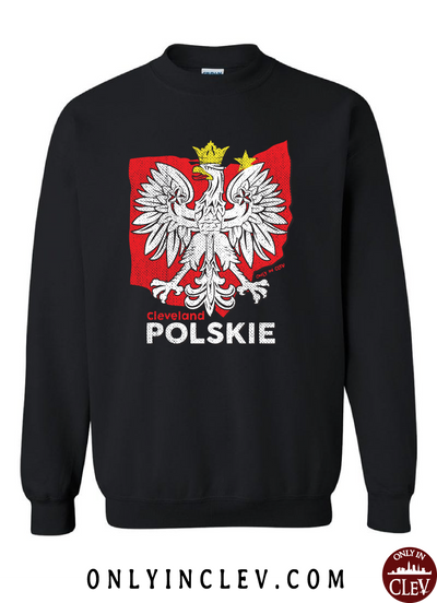 Cleveland Polskie Crewneck Sweatshirt - Only in Clev