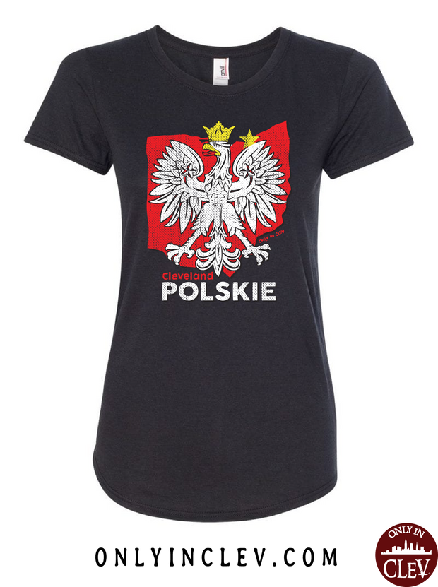 Cleveland Polskie Womens T-Shirt - Only in Clev