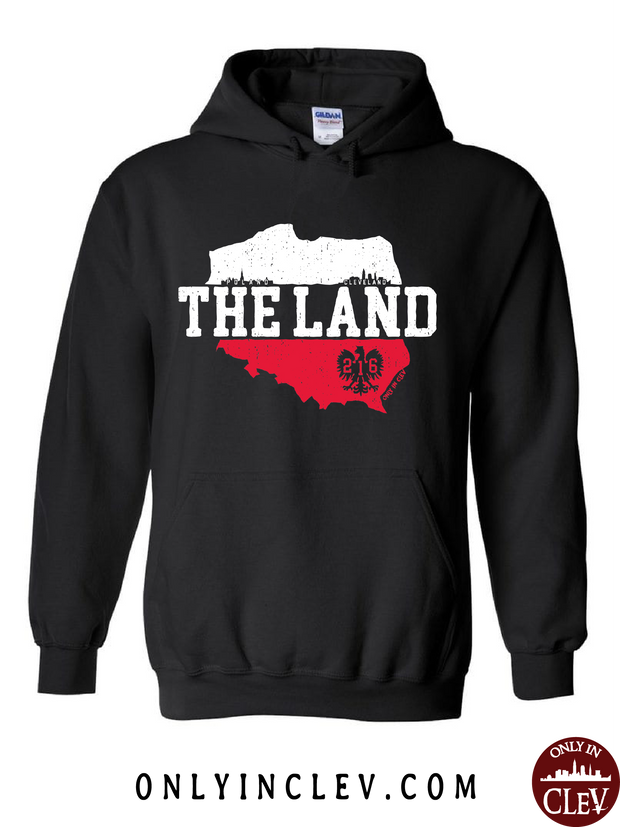 """The Land-Poland- Cleveland"" Design on Black"