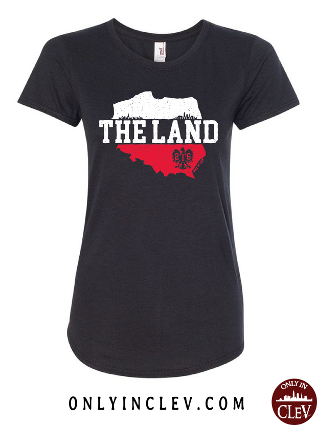"""The Land-Poland- Cleveland"" Design on Black - Only in Clev"
