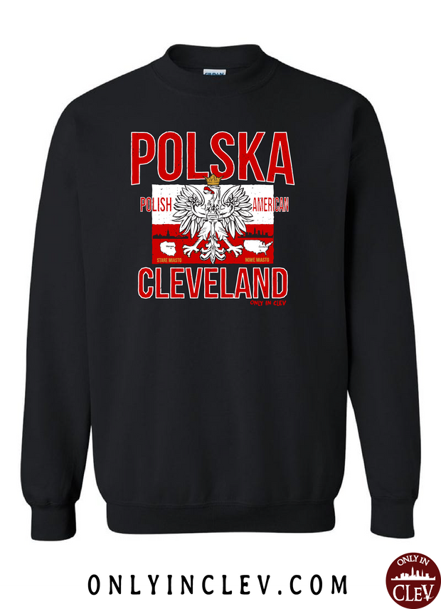 """Polska Cleveland"" Design on Black - Only in Clev"