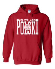 """Polski Eat Drink & Be Polish"" Design on Red"