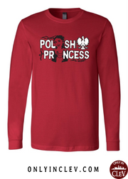 """Polish Princess"" Design on Red - Only in Clev"