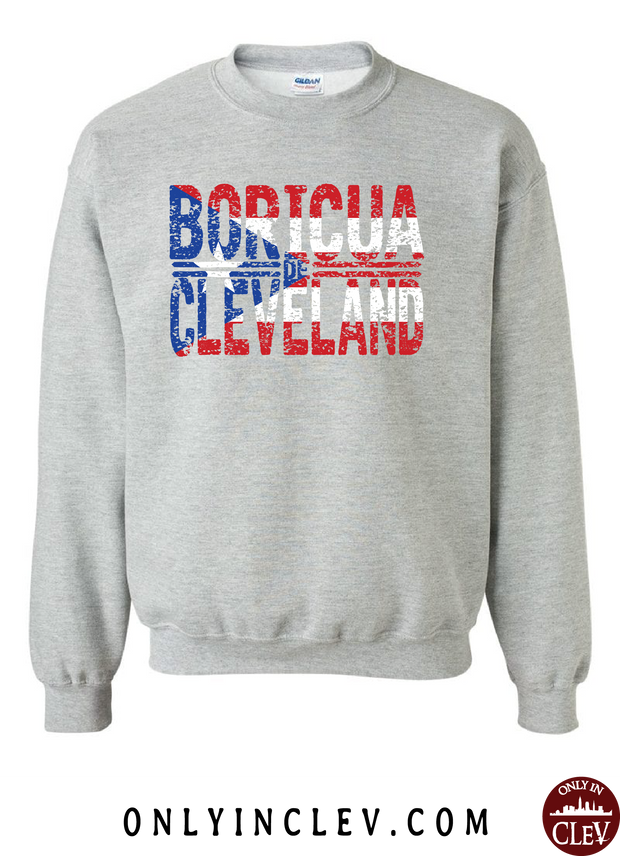 """Boricua Cleveland"" Design on Gray - Only in Clev"