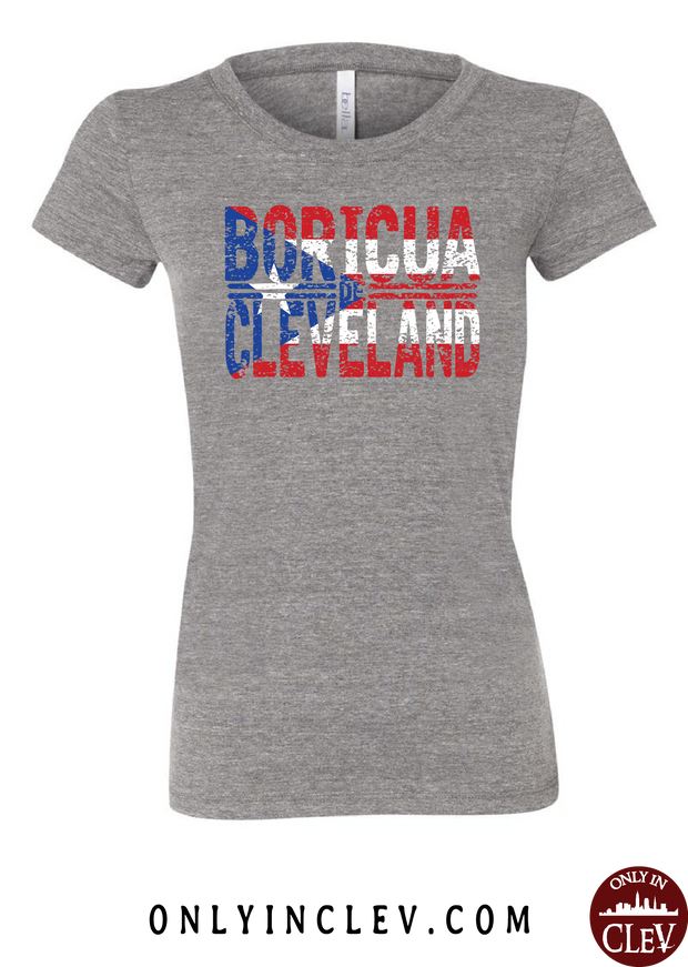 Cleveland Boricua-Nationality Tee Womens T-Shirt - Only in Clev