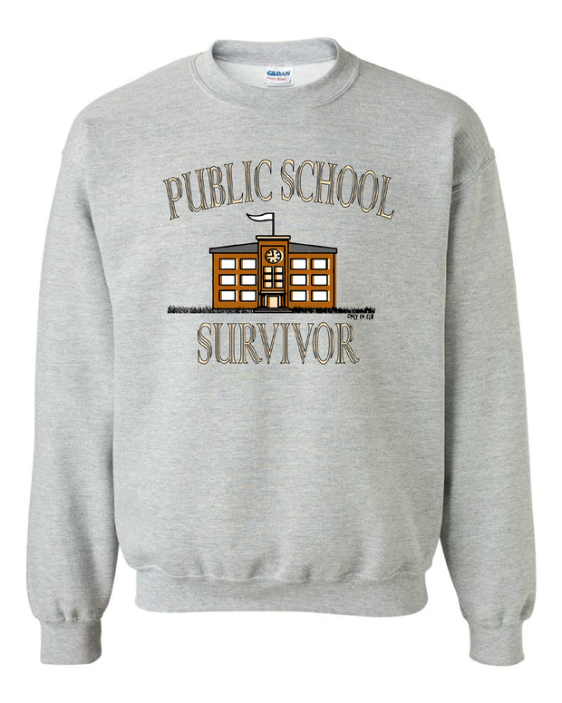 """Public School Survivor"" Design on Gray - Only in Clev"