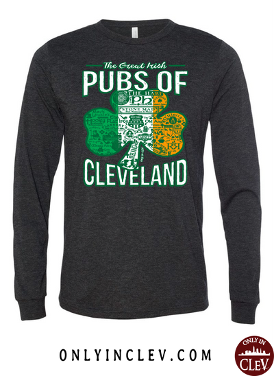 Cleveland Irish Pubs Long Sleeve T-Shirt - Only in Clev