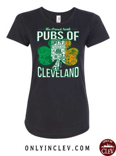 Cleveland Irish Pubs Womens T-Shirt - Only in Clev