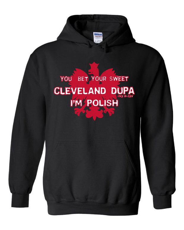 """Cleveland Dupa"" Design on Black"