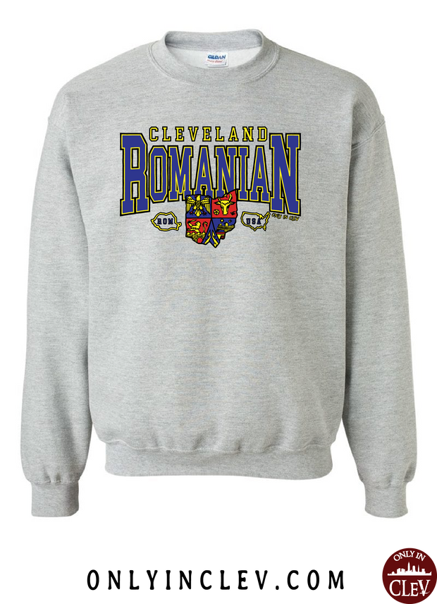 Cleveland Romania-Nationality Tee Crewneck Sweatshirt - Only in Clev
