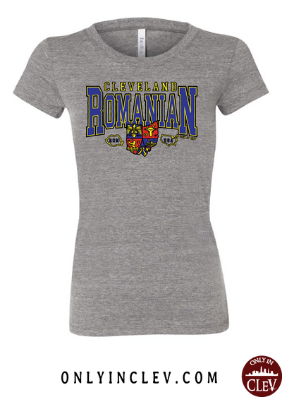 Cleveland Romania-Nationality Tee Womens T-Shirt - Only in Clev
