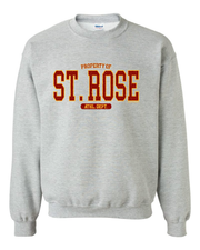"Property of ""St. Rose"" Design"" on Gray - Only in Clev"