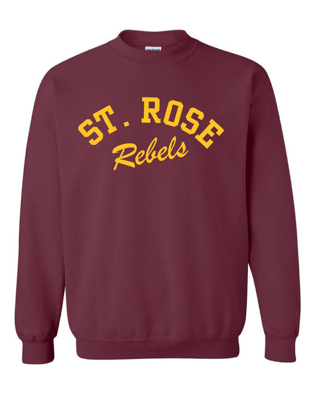"""St. Rose Rebels Design"" on Maroon - Only in Clev"