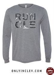 """RUN CLE"" Men's on Gray - Only in Clev"