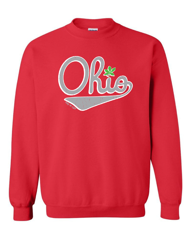 """Script Ohio"" Design on Red"