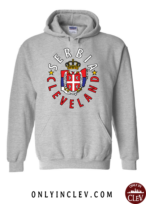 Cleveland Serbia-Nationality Tee Hoodie - Only in Clev