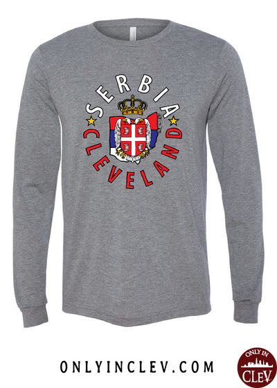 Cleveland Serbia-Nationality Tee Long Sleeve T-Shirt - Only in Clev