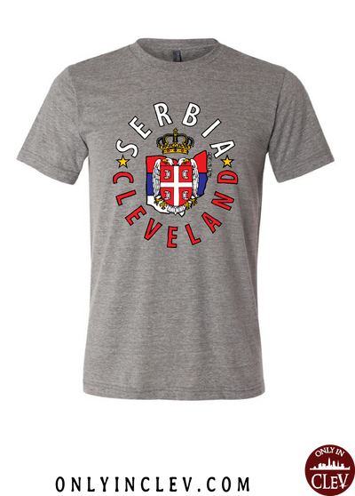"""Cleveland Serbian"" Design on Gray - Only in Clev"