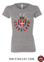 """Cleveland Serbian"" Design on Gray"