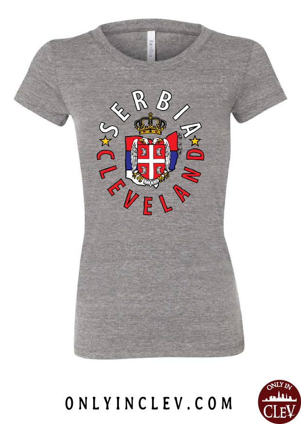 Cleveland Serbia-Nationality Tee Womens T-Shirt - Only in Clev