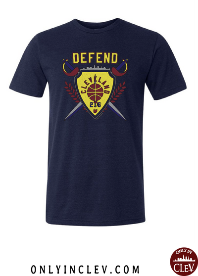 """Defend Cleveland""  Design on Navy"