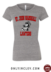 """St. John Marshall"" Design on Gray - Only in Clev"