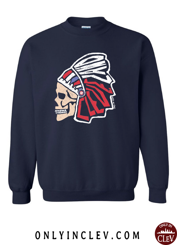 """Cleveland Skull Design"" on Navy - Only in Clev"