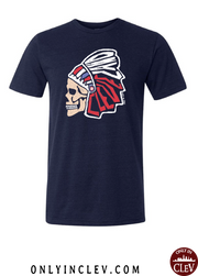 """Cleveland Skull Design"" on Navy"