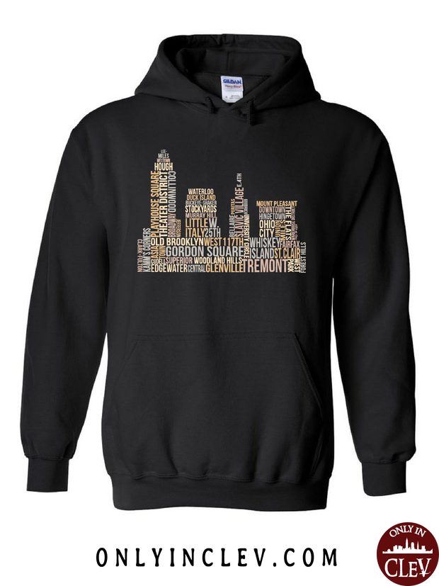 Cleveland Skyline Neighborhood  Hoodie - Only in Clev