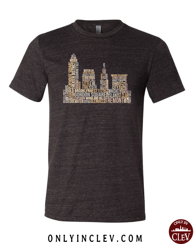 Cleveland Skyline Neighborhood  T-Shirt - Only in Clev