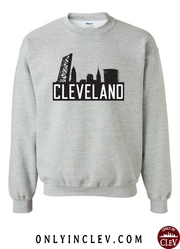 """The Flats Skyline"" T Shirt on Gray"
