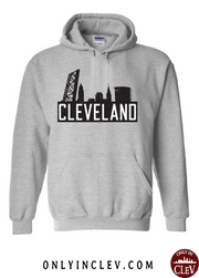 """The Flats Skyline"" T Shirt on Gray - Only in Clev"