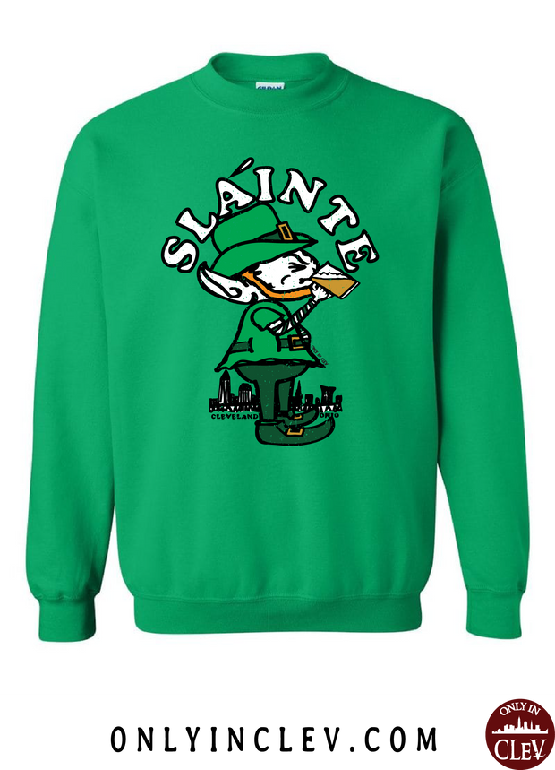 Slainte Cleveland Crewneck Sweatshirt - Only in Clev