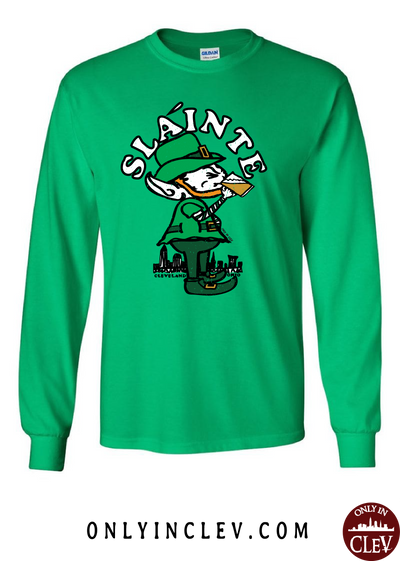 Slainte Cleveland Long Sleeve T-Shirt - Only in Clev