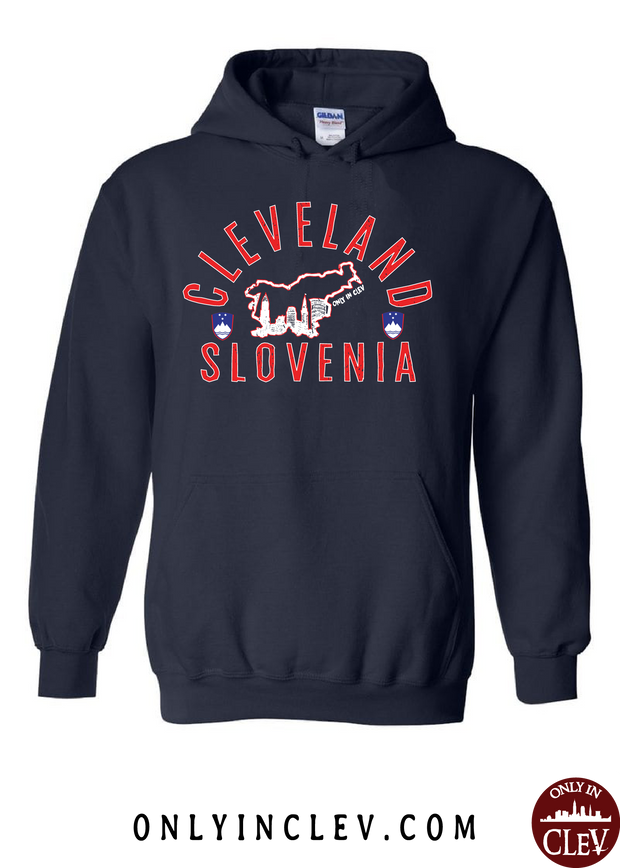 """Cleveland Slovenia"" Design on Navy - Only in Clev"