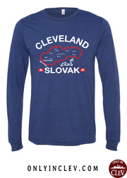 """Cleveland Slovak"" Design on Navy - Only in Clev"