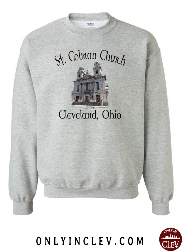 St. Colman Church Crewneck Sweatshirt - Only in Clev
