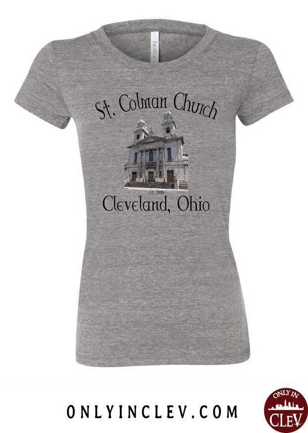 St. Colman Church Womens T-Shirt - Only in Clev