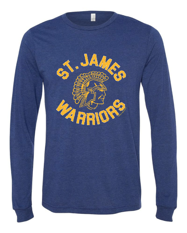 """St. James Warrior "" Design on Navy - Only in Clev"