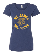 """St. James Warrior "" Design on Navy"