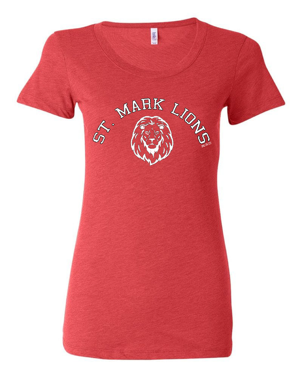 """St. Mark Lions"" Design on Red - Only in Clev"