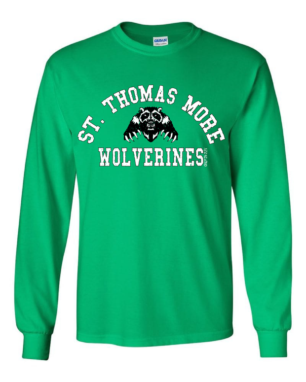 """St. Thomas More Wolverines"" Design on Gray - Only in Clev"