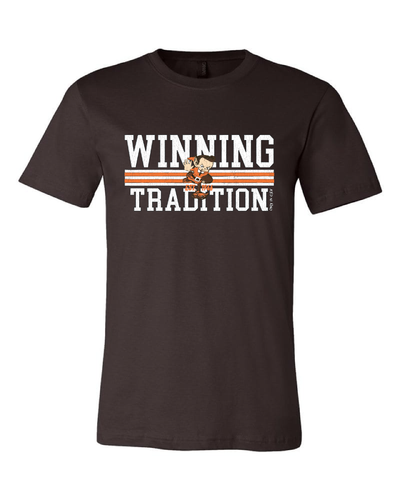 """Winning Tradition"" Vintage Design on Brown - Only in Clev"