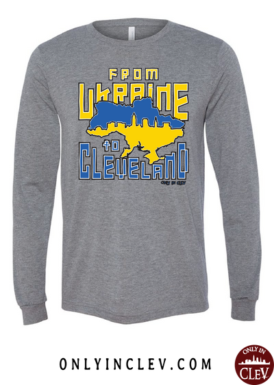 Ukraine to Cleveland Nationality Tee Long Sleeve T-Shirt