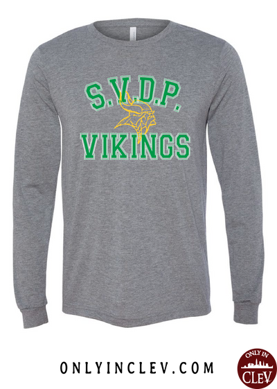 St. Vincent DePaul Vikings Long Sleeve T-Shirt - Only in Clev