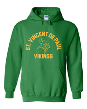 """St. Vincent De Paul Vikings"" Design on Green - Only in Clev"