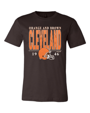 """Cleveland Football Vintage"" on Brown"